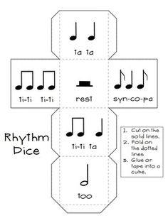 ROLL-A-SONG MUSICAL DICE COMPOSITION:BUNDLED SET - TeachersPayTeachers.com