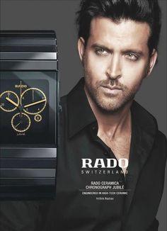 Bollywood Actor Hrithik Roshan is Brand Ambassador for Rado.