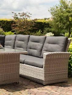 rattan lounge möbel - gartenmöbelkauf | lounge garten | pinterest, Garten und Bauen