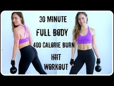 30 Minute 400 Calorie Full Body HIIT | Cardio, Strength, Core - YouTube