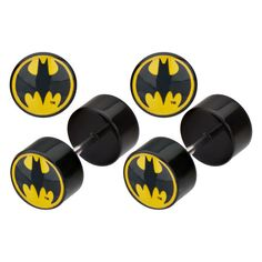 DC Comics Batman Bat Signal Faux Plugs 18g