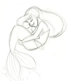 Ariel_Sketch_by_Trounced_by_Glen_Keane_Fans.jpg (589×692)