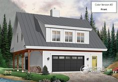 ATTRACTIVE SUITE OVER GARAGE   One bedroom suite garage apartment with open concept and cathedral ceiling (# 3935)   http://www.drummondhouseplans.com/house-plan-detail/info/the-saddlery-cottages-chalets-1001979.html