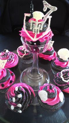 Monster High cupcakes I made for a little girls 7th birthday