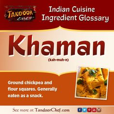 #Khaman - Ground #chickpea and flour squares. #IndianCuisine #Glossary