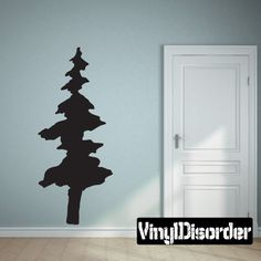 Pine Trees Wall Decal - Vinyl Decal - Car Decal - 047