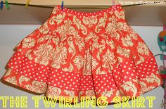 To Sew With Love: The Damask and Dots Twirling Skirt!  Every little girl needs a twirly skirt!!!!