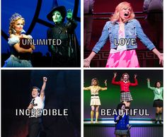 Recurring words - Wicked, Legally Blonde, Book of Mormon, ♥Heathers♥