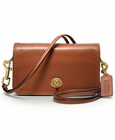 COACH LEGACY LEATHER PENNY SHOULDER PURSE - Crossbody & Messenger Bags - Handbags & Accessories - Macy's