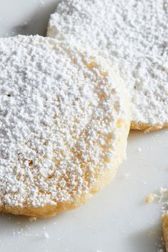 NYT Cooking: These tender cookies are an elegant teatime snack, packed with bright lemon flavor. Lemon Cookies, Chip Cookies, Cracked Cookies, Biscuits, Cookie Recipes, Dessert Recipes, Tea Time Snacks, Galletas Cookies, Christmas Baking