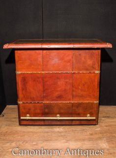 84b4278d98eed Canonbury - English Leather Pub Bar Campaign Furniture Drinks Cabinet