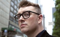 Sam Smith wearing Ray-Ban Optical style RX5317 2000 in the pages of Entertainment Weekly