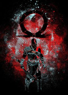 Hand-crafted metal posters designed by talented artists. Kratos God Of War, Dope Wallpapers, Gaming Wallpapers, Good Of War, God Of War Series, Gears Of War, Marvel Wallpaper, Norse Mythology, Video Game Art
