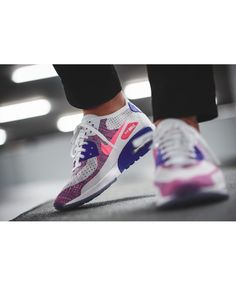finest selection cebcf fe983 See more. Women s Nike Air Max 90 Ultra 2.0 Flyknit White Medium  Blue Bright Melon