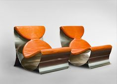 Maria Pergay, 'Pair of Lounge Chairs', 1970
