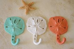Beach Decor Cast Iron Sand Dollar Wall Hook  - PICK YOUR COLOR on Etsy, $14.00
