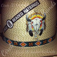 "Circle (8) beaded hatbands "" like us on Facebook"