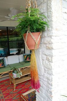Ombre Dyed Jute Macrame Plant Hangers by Jennifer Perkins, via Flickr
