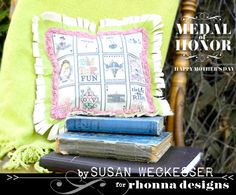 Awesome pillow by Susan created with digital art from Rhonna Designs @Rhonna Farrer
