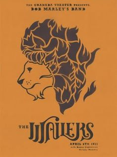 Africa as a Lion, an advertisement for Bob Marley's reggae band, the Wailers.  The lion iconography figures prominently in Rastafarian culture, acting as a symbol of the esteemed Ethiopian Emperor Haile Selassie I (Ras Tafari), who, as a direct descendant of the Israelite King David, adopted;The Conquering Lion of the Tribe of Judah; as part of his official title.