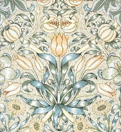"William Morris, 1886, ""Lily and Pomegranate"" wallpaper"