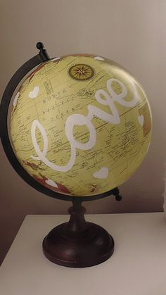 Hey, I found this really awesome Etsy listing at https://www.etsy.com/listing/222153665/wedding-guest-book-globe-custom-made  https://www.etsy.com/uk/shop/WholeWorldOfLove Hand painted globe. Wedding guest book. Wedding decor. Home decor. Travel gift.
