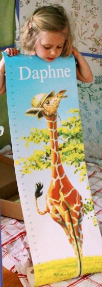 A Personalized Childrens Growth Chart by I See Me @ArtfulParent