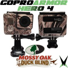 GoPro Hero 4 - Mossy Oak camo GoPro Armor in Duck Blind!