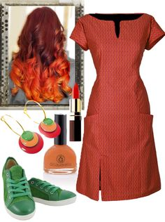 Happy Midsummer  - We recommend wearing a Red Connie dress. Accessories: Our star earrings. Green sneakers: Ethletic is 100% vegan. Produced, with organic cotto and FairTrade sustainable rubber soles. Aquarella is doing wonderful nail polishes, the only truly safe nail polish that is both water-based and non-toxic.
