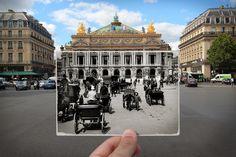 Suite à ma série de photos sur les 70 ans de la Libération de Paris (ici), les éditions Parigramme m'ont proposé le même type d'exercice sur l'Histoire de Paris. De la Commune (1871) à Mai 68, voici un aperçu des 80 photos que j'ai réalisées cet été. L'incrustation de photographies historiques dans des vues contemporaines…