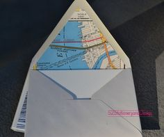 New York City Vintage Map Handlined Envelopes with Blank Note Card Set. $40.00, via Etsy.