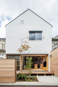 Japan Modern House, Japan House Design, Small House Design, Modern House Design, Modern Minimalist House, Minimalist Architecture, Japan Architecture, H Design, Facade Design