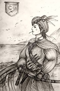 HWS Women Pirates is a spin-off of the current Historically Wrong Sketch Project: Blood and Steel, with the aim to portray the different types of Women . HWS Women Pirates - Canavar of Mediterranean Sea Fantasy Kunst, Fantasy Art, Warrior Girl, Warrior Women, Goddess Warrior, Female Pirate Costume, Pirate Costumes, Arabian Knights, Architecture Design