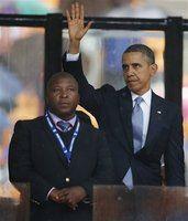 Mandela ceremony interpreter called a 'fake'