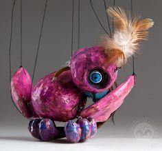 Bird Pinky Czech Marionette is a puppet handmade of ceramic. Very funny and cute marionette for every household. Puppets, Singer, Fish, Cute, Handmade, Animals, Animais, Animales, Animaux