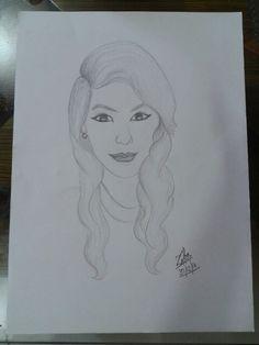A potrait of my sisters friend♡..... - by Zeba Hassan