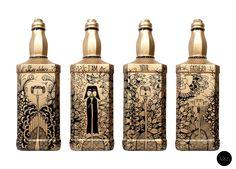 Arte em garrafas reutilizadas