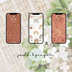 Rustic Boho Wallpaper for Smartphone | Digital Download Design