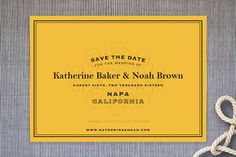 Label Save the Date Cards by Lauren Chism at minted.com