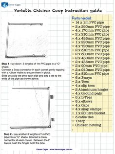 Page 1 Klever Cages Free  PVC Chicken Coop Plan