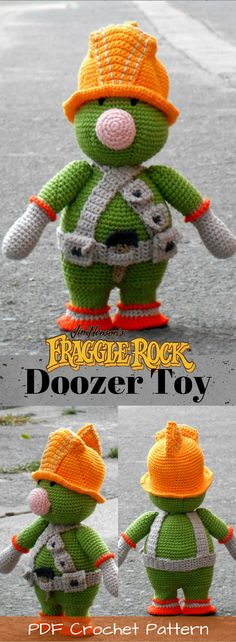 Fraggle Rock Doozer toy crochet pattern. I loved this '80s show! And Doozers were my favourite! These guys are so cute; I have to make one! #etsy #ad