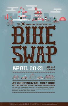 Duluth Bike Swap 2013 by Jacob Boie, via Behance Art Art director   Artwork Visual Graphic Mixer Composition Communication Typographic Work Digital