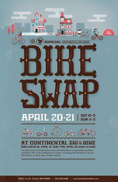 Duluth Bike Swap 2013 by Jacob Boie, via Behance Art Art director   Artwork Visual Graphic Mixer Composition Communication Typographic Work Digital