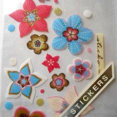 RETRO-FLOWERS-Vellum-Stickers-Sticko-Stickopotamus-Scrapbook-craft-art-geometric  #BigBoyTumbleweed
