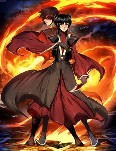Fire Lord Zuko and his Queen, Mai