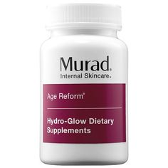 Browse unbiased reviews and compare prices for Murad Hydro-Glow Dietary Supplements. I really like this product and I recommend it a lot for people with dry skin and mature skin, since it has components for your skin to regenerate and remove lines of expression that are made over the years, I like it for that and Because it leaves the radiant skin effect after using it a few days and that does the said effect.