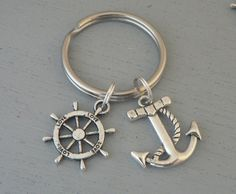 Anchor with Rope and Ships Wheel Love KeyChain by Simply2Charming, $8.00