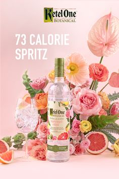 fewer calories than a glass of white wine. (And delicious!) To make a Botanical Spritz, mix oz Ketel One Botanical Grapefruit & Rose with 3 oz Soda Water. Serve in a wine glass with ice and your choice of fragrant herbs, crisp citrus or other fresh fruit. Wild Rose Detox, Grolet, Juicing For Health, Detox Recipes, Detox Foods, Fruits And Vegetables, Vegetables List, Veggies, Cocktails
