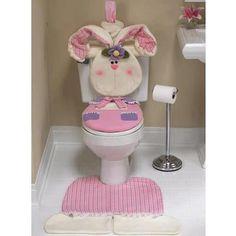 ARTE COM QUIANE - Paps,Moldes,E.V.A,Feltro,Costuras,Fofuchas 3D: Inédito: Molde Jogo de Banheiro Tema Coelho