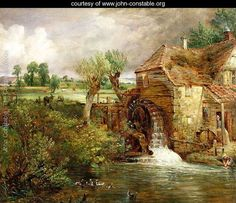 Oil on canvas. Yale Center for British Art, New Haven, USA. Free art print of A Mill at Gillingham in Dorset (Parham's Mill) by John Constable. Georges Braque, Georges Seurat, Your Paintings, Beautiful Paintings, Landscape Paintings, Landscape Art, Vintage Landscape, Frank Stella, John Constable Paintings